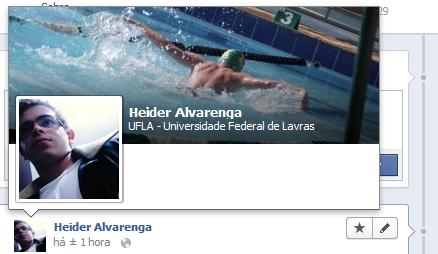 Facebook Visualização Rápida do Usuário